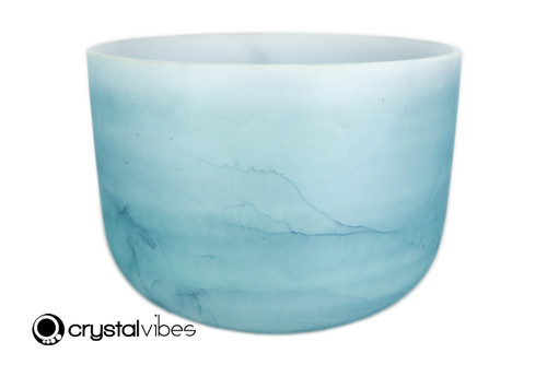 """14"""" Perfect Pitch A Note Turquoise Gemstone Fusion Empyrean Crystal Singing Bowl +0 cents  11001756"""