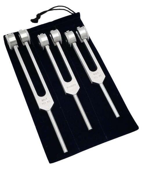 Sacred Feminine Triskele - 111hz Holy Harmonies Healing 3 Tuning Fork Set