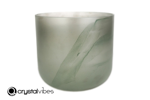 8'' 432 Hz D#  Note Malachite Fusion Crystal Singing Bowl -25 cents  11001760