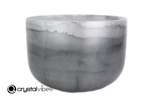 """13"""" Perfect Pitch C Note Black Tourmaline Fusion Empyrean Crystal Singing Bowl +5 cents  11001777"""