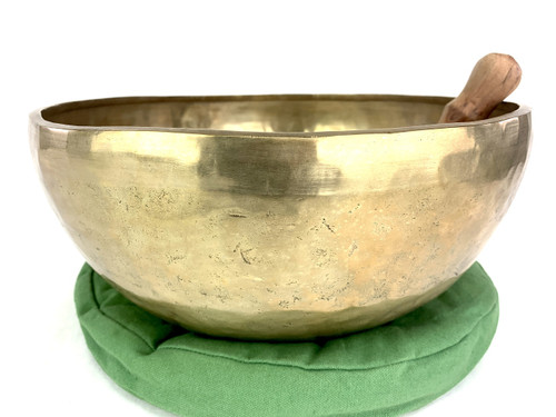 """13"""" F#/D Note Engraved Himalayan Singing Bowl #f34640121"""