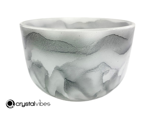 """10"""" Perfect Pitch A Note Black Tourmaline Gemstone Fusion Empyrean Crystal Singing Bowl +0 cents  11001811"""