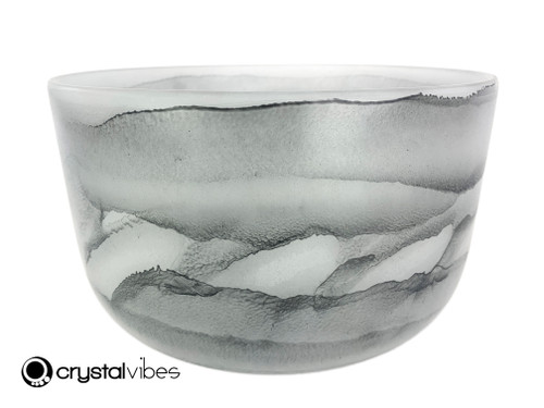 """10"""" Perfect Pitch F#  Note Black Tourmaline Gemstone Fusion Empyrean Crystal Singing Bowl +0 cents  11001816"""
