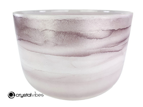 """13"""" C#  Note Lepidolite Fusion Empyrean Crystal Singing Bowl +30 cents  11001843"""