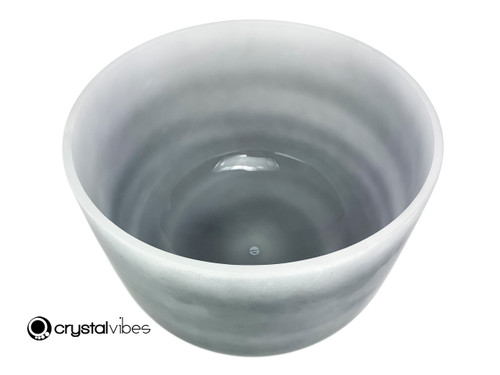 """13"""" Perfect Pitch C Note Black Tourmaline Fusion Empyrean Crystal Singing Bowl +5 cents  11001845"""