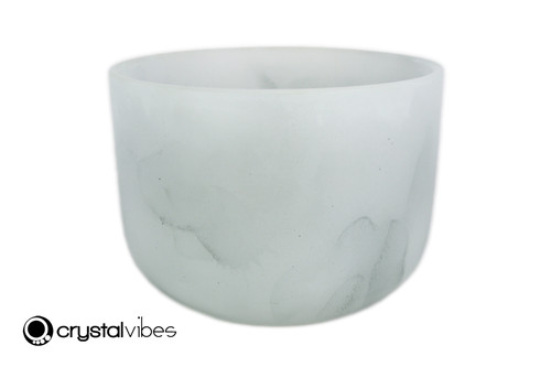 """9"""" Perfect Pitch A Note Moss Agate Fusion Empyrean Crystal Singing Bowl +5 cents  11001863"""