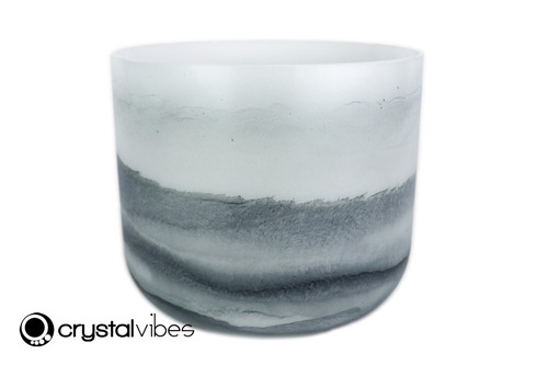 """8"""" 432Hz Perfect Pitch Note Larimar/Lapis Fusion Empyrean Crystal Singing Bowl -35 cents  11001892"""