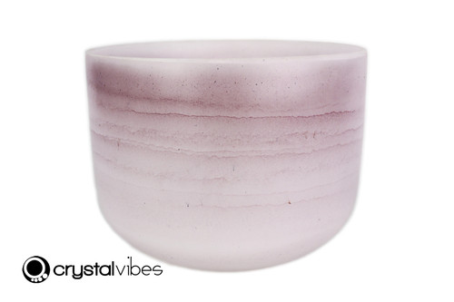 """9"""" Perfect Pitch A Note Amethyst Gemstone Fusion Empyrean Crystal Singing Bowl +0 cents  11001896"""