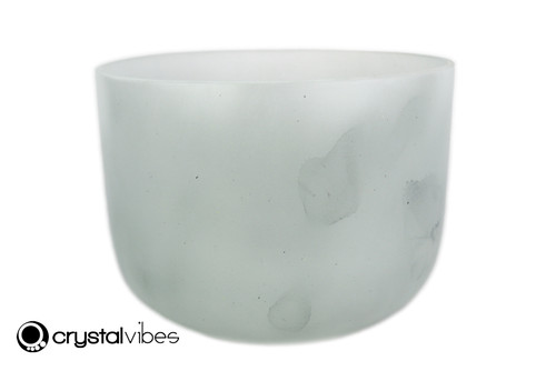 """8"""" 432 Hz Perfect Pitch B Note Empyrean Moss Agate Crystal Singing Bowl -30 cents  11001901"""