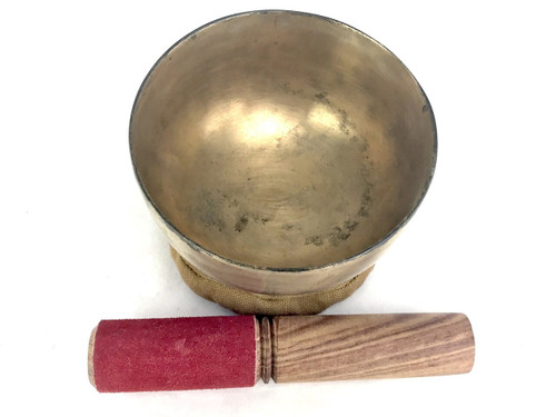 """4.25"""" F/A# Note Antique Himalayan Singing Bowl #f2460221"""