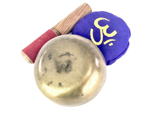 """4.5"""" F/A# Note Antique Himalayan Singing Bowl #f2240221"""