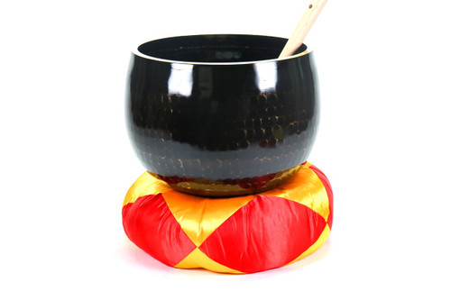 """Black A Note Japanese Style Rin Gong Singing Bowl 10"""" +15 cents  66000216"""