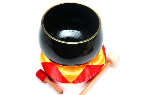 """Black F#  Note Japanese Style Rin Gong Singing Bowl 12"""" +20 cents  66000232"""