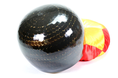 """Black 432Hz A#  Note Japanese Style Rin Gong Singing Bowl 11"""" -25 cents  66000244"""