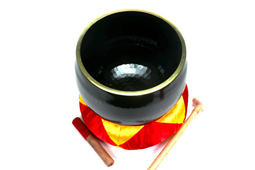 """Black 432 Hz B Note Japanese Style Rin Gong Singing Bowl 11"""" -40 cents  66000245"""