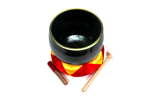 """Black G#  Note Japanese Style Rin Gong Singing Bowl 10"""" -15 cents  66000249"""