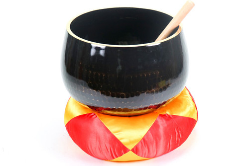 """Black F#  Note Japanese Style Rin Gong Singing Bowl 12"""" +45 cents  66000266"""