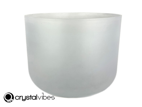"""12"""" Perfect Pitch C#  Note Celestite Translucent Crystal Singing Bowl -5 cents  11001965"""
