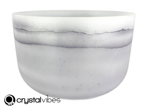 """12"""" 432 Hz E Note Amethyst Fusion Empyrean Crystal Singing Bowl -40 cents  11001967"""