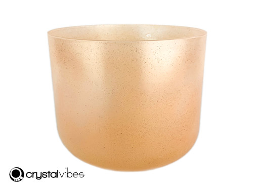 """9"""" A#  Note Translucent Fulgurite Fusion Crystal Singing Bowl -45 cents  11001980"""