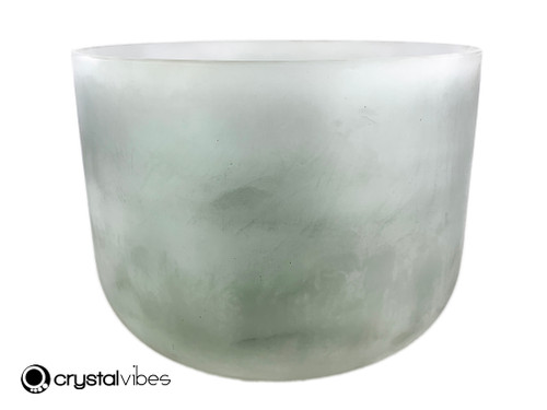 """13"""" 432 hz Perfect Pitch G Note Moss Agate Gemstone Fusion Empyrean Crystal Singing Bowl -30 cents  11001995"""