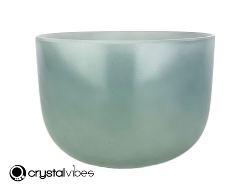 """9"""" Perfect Pitch A#  Note Empyrean Blue Tourmaline Crystal Singing Bowl +0 cents  11002037"""