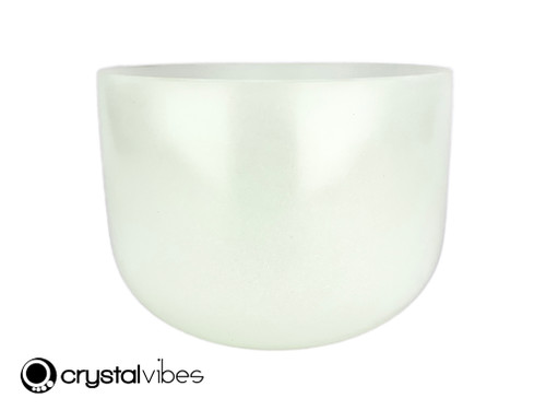 """10"""" Crystal Vibes Perfect Pitch F Note Prehnite Fusion Empyrean Crystal Singing Bowl +5 cents  11002043"""