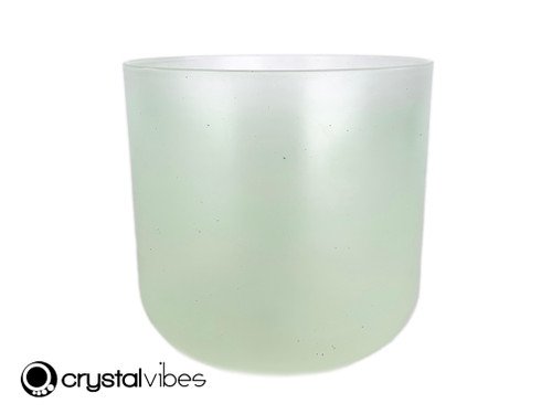 """7"""" C#  Note Prehnite Fusion Translucent Crystal Singing Bowl US +20 cents  11002074"""