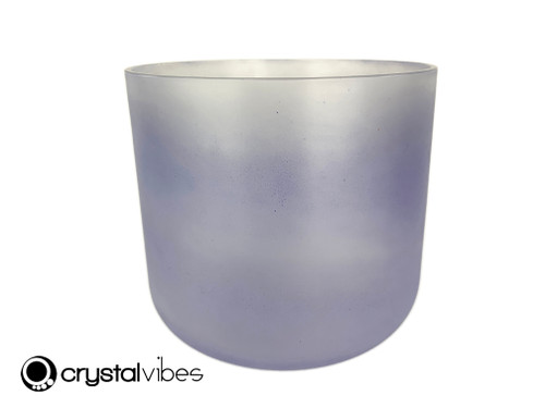 """8"""" Perfect Pitch D#  Note Tanzanite Translucent Crystal Singing Bowl OJ +5 cents  11002087"""