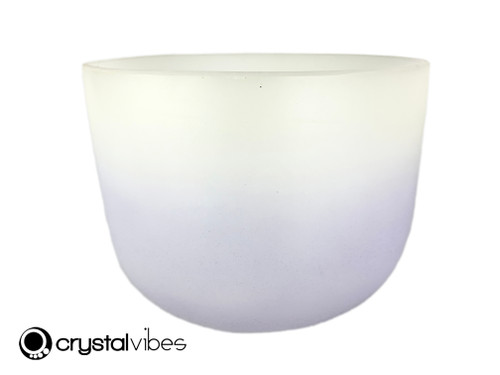 """8"""" 432 Hz Perfect Pitch B Note Amethyst/Citrine Fusion Empyrean Crystal Singing Bowl -30 cents  11002092"""