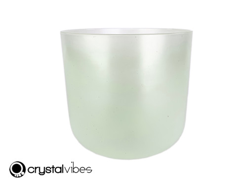 """8"""" Perfect Pitch A#  Note Prehnite Fusion Translucent Crystal Singing Bowl OJ +10 cents  11002094"""