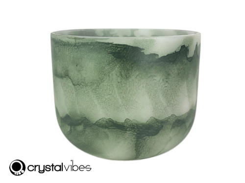 """7"""" 528 Hz C Note Moss Agate Fusion Empyrean Crystal Singing Bowl SR +15 cents  11002099"""