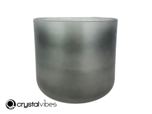 """8"""" Perfect Pitch A#  Note Black Tourmaline Gemstone Fusion Translucent Crystal Singing Bowl -5 cents  11002105"""