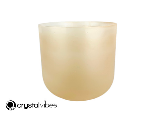"""8"""" Perfect Pitch 432 Hz D#  Note Translucent Yellow Aventurine Crystal Singing Bowl OJ -30 cents  11002118"""