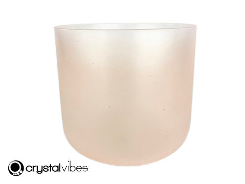 """8"""" Perfect Pitch B Note Translucent Rose Quartz Fusion Crystal Singing Bowl +5 cents  11002130"""