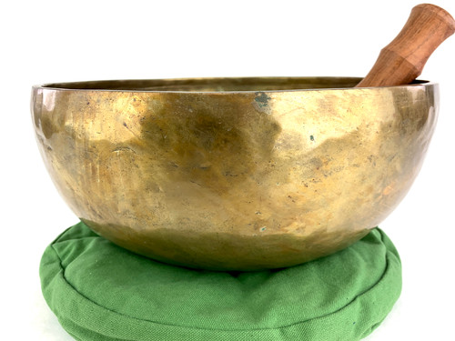 """14"""" F/C# Note Hand Hammered Himalayan Singing Bowl #f46700321"""