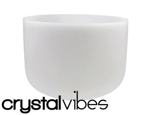 """Crystal Vibes Perfect Pitch Empyrean A#  Note Crystal Singing Bowl 14"""" +0 cents  31002927"""