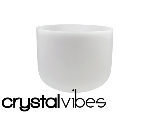 """Crystal Vibes 7"""" Perfect Pitch Empyrean C#  Note Crystal Singing Bowl +5 cents  31003132"""