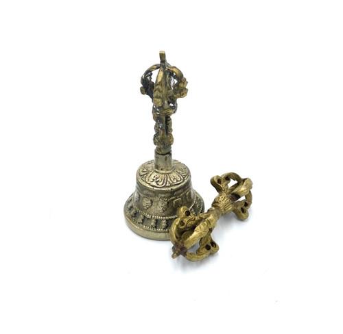 Extra Small Buddhist Sacred Spiritual Tibetan Bell And Dorje 2