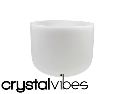 """432 Hz Perfect Pitch Empyrean D Note Crystal Singing Bowl 6"""" -30 cents  31003280"""