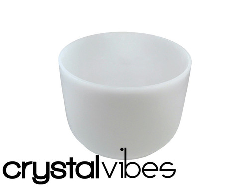 """7"""" Perfect Pitch Empyrean A Note Crystal Singing Bowl +5 cents  31003563"""
