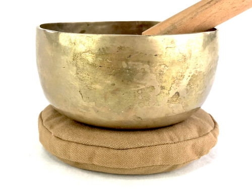 """5.75"""" A#/D# Note Flat Bottomed Himalayan Singing Bowl #a7020621"""