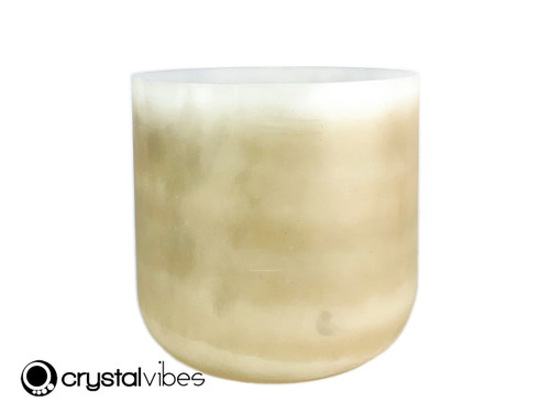"""8"""" D#  Note Fulgurite Fusion Opaque Crystal Singing Bowl US +20 cents  11002245"""