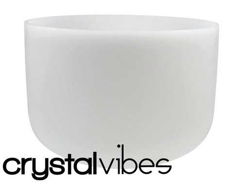 """Crystal Vibes Perfect Pitch Empyrean C Note Crystal Singing Bowl 14"""" +5 cents  31003642"""