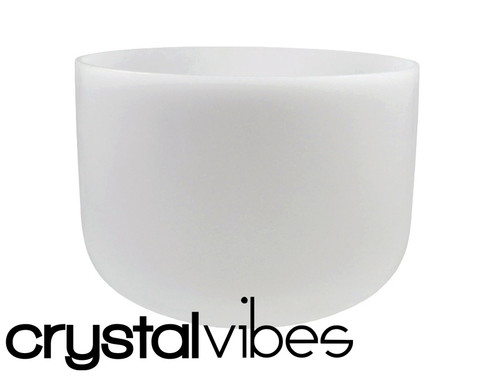 """Crystal Vibes Empyrean Perfect Pitch B Note Crystal Singing Bowl 9"""" +0 cents  31003794"""