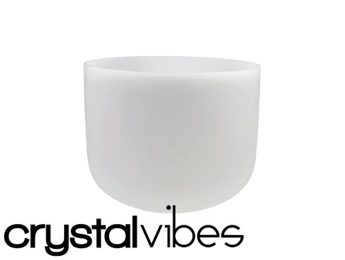 """Crystal Vibes Perfect Pitch Empyrean A Note Crystal Singing Bowl 8"""" +5 cents  31003886"""