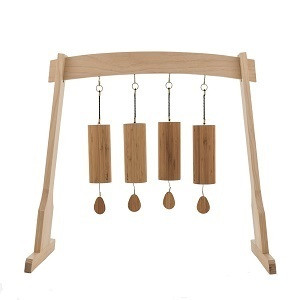 Aria Air with Rattan Wind Chime Stand Koshi