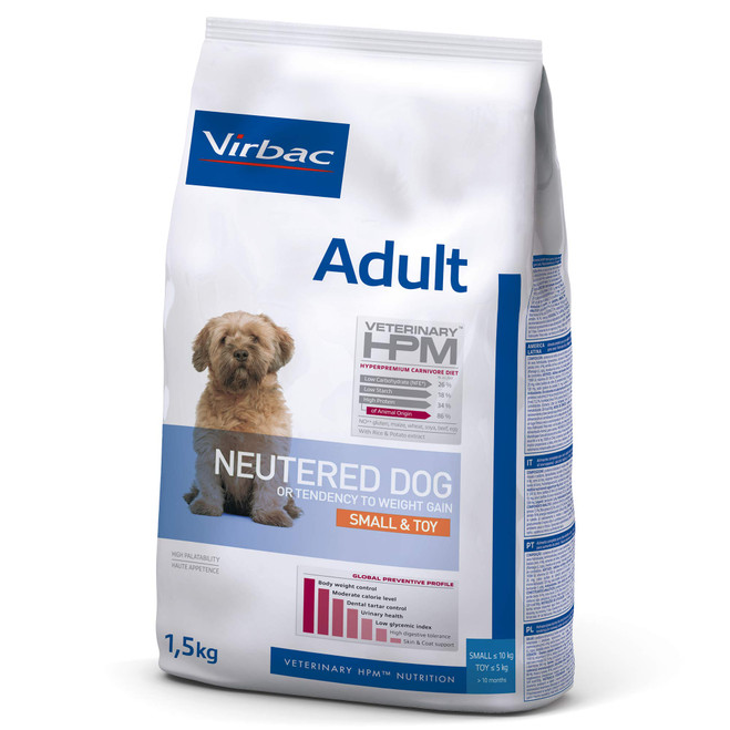 ADULT NEUTERED DOG Small & Toy - Foder till vuxna hundar