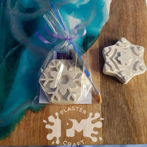 PM Plaster Craft Snowflake Party Favour
