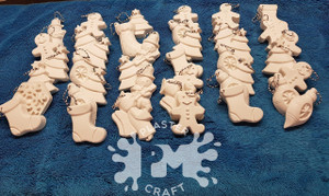 PM Plaster Craft Christmas Ornaments